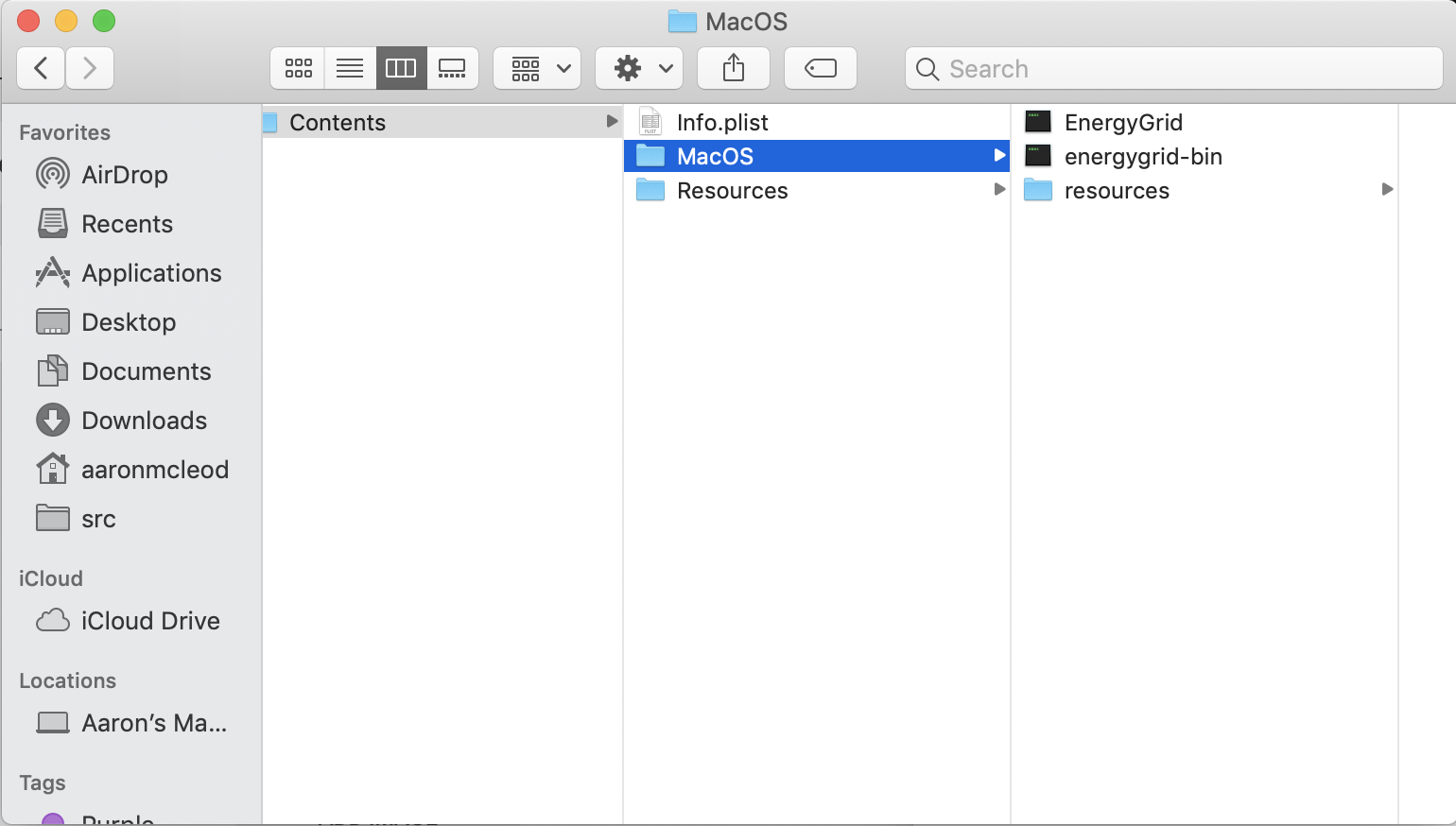 MacOS folder layout in Mac binary